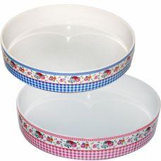 Форма для запекания керамическая круглая Микс 2 SnT 60937