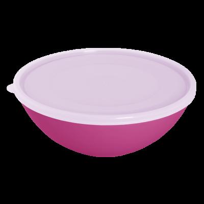 Миска с крышкой 2 л (тёмно-розовый/прозрачный) Алеана 167017