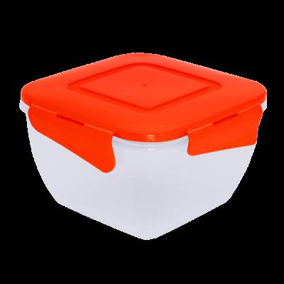 Контейнер для пищевых продуктов квадратный с зажимом 0,45 л Алеана 167059