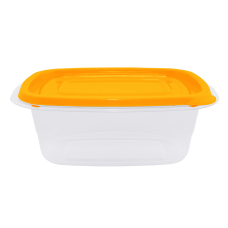 """Контейнер для пищевых продуктов """"Омега"""" прямоугольный 1,8 л (оранжевый/прозрачный) Алеана 167027"""