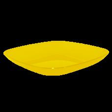 Тарелка 250*250*30 мм 0,9 л (жёлтый прозрачный) Алеана 167063