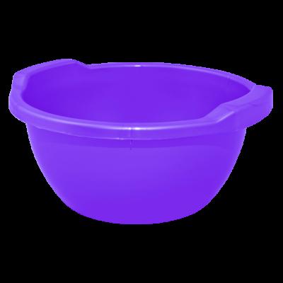 Таз круглый 44 л (фиолетовый перламутр) Алеана 121056