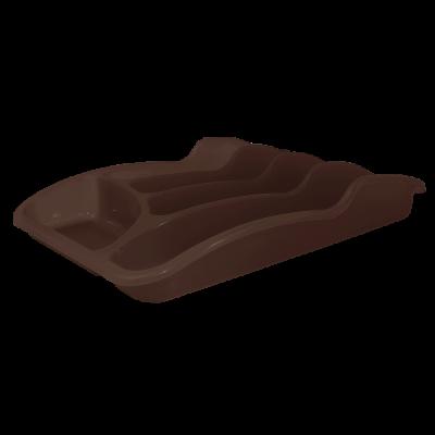 Лоток для столовых приборов 33*25*6,0 см (темно-коричневый) Алеана 167095