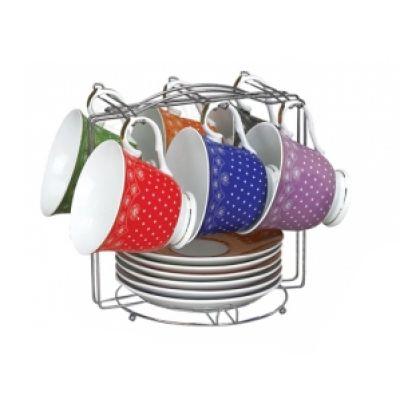 Сервиз чайный на стойке Ситец 12 предметов SnT 1509