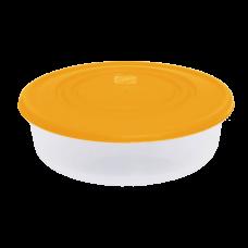 Контейнер для пищевых продуктов круглый 1,025 л (оранжевый/прозрачный) Алеана 167034