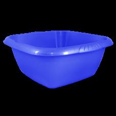 Таз квадратный Евро 6 л (голубой прозрачный) Алеана 121045