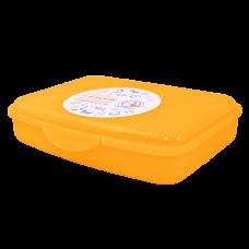Контейнер универсальный S 13*12*8 см (оранжевый прозрачный) Алеана 168016