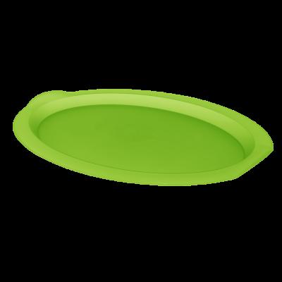 Поднос овальный 47*35*4 см (салатовый прозрачный) Алеана 167403