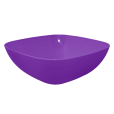 Тарелка глубокая 150*150*55 мм 0,5 л (фиолетовый прозрачный) Алеана 167061