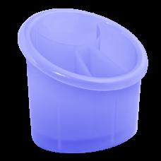 Подставка для столовых приборов овальная (фиолетово-прозрачный) Алеана 167094