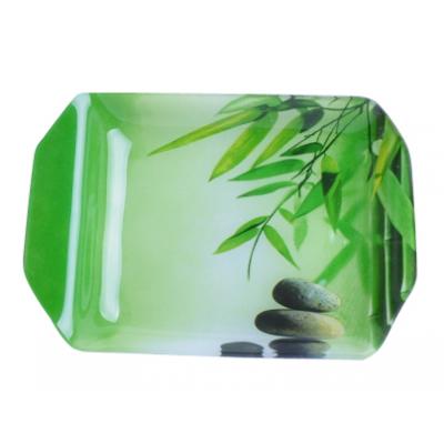 Тарелка прямоугольная Зеленый бамбук 19,5*14,4 см SnT 3812