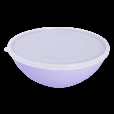Миска с крышкой 3 л (сиреневый/прозрачный) Алеана 167018