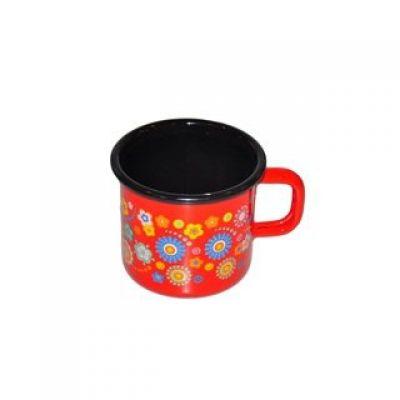 Кружка Цветы на красном 0,37 л Metalac 138810