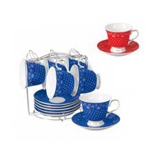 Сервиз чайный на стойке Ситец 12 предметов SnT 1508
