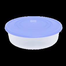 Контейнер для пищевых продуктов круглый 1,7 л (сиреневый/прозрачный) Алеана 167035