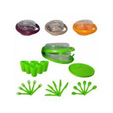 Набор для пикника пластиковый Handy на 6 персон, 32 предмета, ТМ Lux