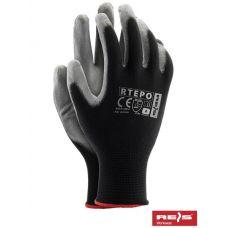 Перчатки защитные из полиэстера, покрытые полиуретаном REIS RTEPO BS