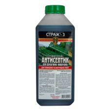 Биозащита, антисептик-антижук для древесины Страж-3 (раствор)