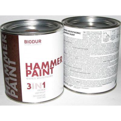 Краска молотковая BIODUR 0,7 л (цвета)