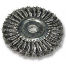 Щётка дисковая из плетёной проволоки