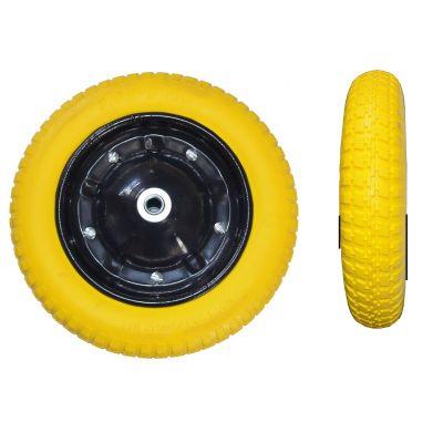 Колесо литое полиуретан желтое 3,0х8 BudMonster 01-046