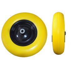 Колесо литое полиуретан желтое 4,0х8 BudMonster 01-045