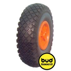Колесо пневматическое для тачки желтое 3,5х4 BudMonster 01-017