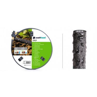 Сочащийся шланг DRIP 1/2, 7,5 м Cellfast 19-001