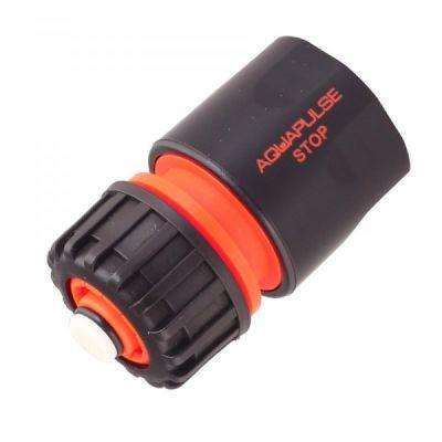 """Коннектор с аквастопом для шланга 1/2"""" и 5/8"""" Aquapulse AP 1003"""
