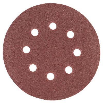 Шлифовальный круг 8 отверстий Ø125 мм P120 (10шт) Sigma 9122671