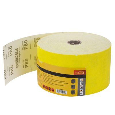 Шлифовальная бумага, рулон 115ммх50м P80 Sigma 9114251