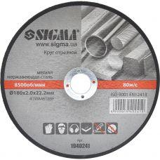 Круг отрезной по металлу Ø180*2.0*22.2 мм Sigma 1940241
