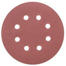 Шлифовальный круг 8 отверстий Ø125 мм P180 (10шт) Sigma 9122691
