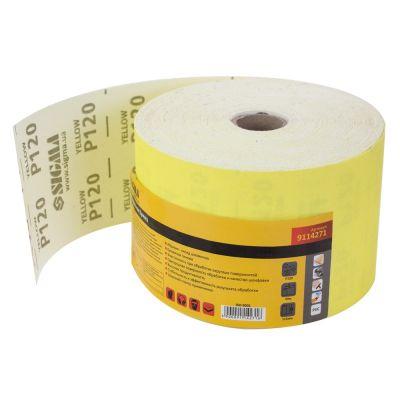 Шлифовальная бумага, рулон 115ммх50м P120 Sigma 9114271