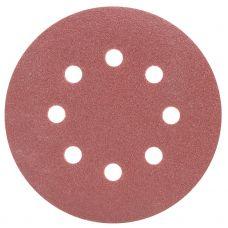 Шлифовальный круг 8 отверстий Ø125 мм P100 (10шт) Sigma 9122661