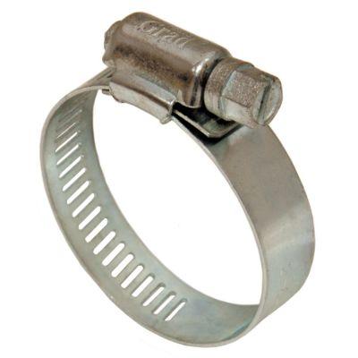 Хомут червячный оцинкованный 8 мм D14-27мм 10 шт Grad 2511345
