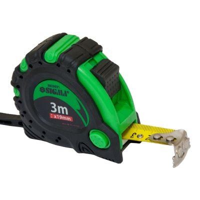 Рулетка магнитная автостоп и тормоз 3м*19мм Sigma 3823031