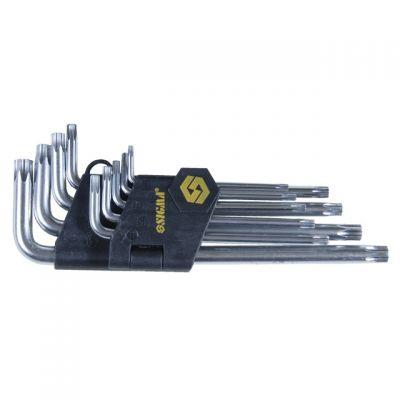 Ключи Torx 9 шт T10-T50 мм CrV (средние с отверстием) Sigma 4022221