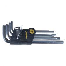 Ключи шестигранные 9 шт, 1,5-10 мм CrV (средние) Sigma 4022021