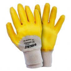 Перчатки трикотажные с нитриловым покрытием (желтые) Sigma 9443441