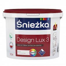 Глубоко матовая износостойкая латексная краска для интерьеров Śnieżka Design Lux 3 1 л
