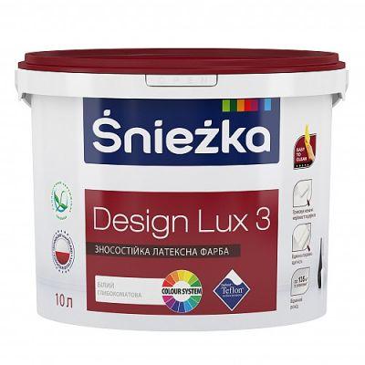 Глубоко матовая износостойкая латексная краска для интерьеров Śnieżka Design Lux 3, 3 л