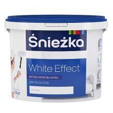 Матовая акриловая краска для внутренних работ Śnieżka White Effect 7 кг