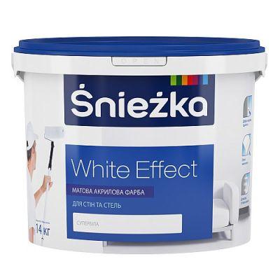 Матовая акриловая краска для внутренних работ Śnieżka White Effect 20 кг