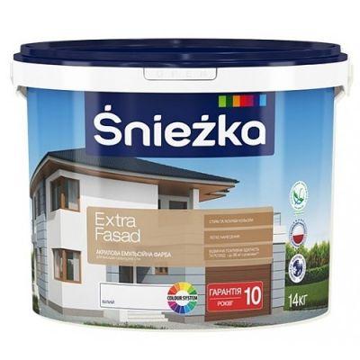 Акриловая эмульсионная краска для фасадов Śnieżka Extra Fasad 1,4 кг