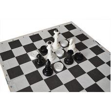 Доска для шашек, шахмат 64 клетки (35см х 35см) Мед