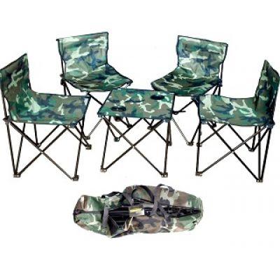 Туристический набор 4 стульчика и 1 стол
