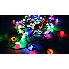 Светодиодная электрогирлянда Шарики 10 м 100 Led RGB